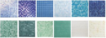 Gresite piscinas colores materiales de construcci n para for Dibujos para piscinas en gresite